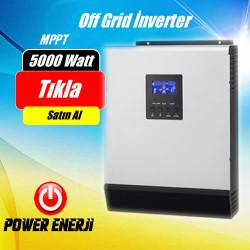 5 Kva 5000Watt 48 Volt MPPT Tam Sinus Akıllı İnverter Fiyatı