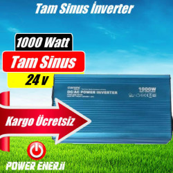 1000 Watt  24 Volt Tam Sinüs İnverter Fiyatı
