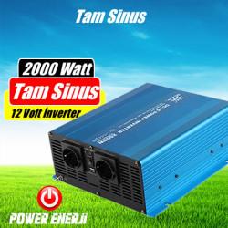 2000 Watt 12 Volt Tam Sinus İnverter Fiyatı Özellikleri Neleri Çalıştırır?