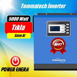 5 kVA MPPT Tommatech  48 volt Tam Sinus Akıllı İnverter Fiyatı