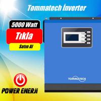 6250VA 48V 5000W Tommatech Tam Sinus Akıllı İnverter (80 Ah MPPT Solar  Şarj Cihazlı)