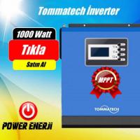 1 KVA 1000 Watt  ( MPPT ) 12 Volt New  Tommatech  Tam Sinüs Akıllı İnverter Fiyatı