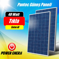 40 Watt Polikristal Pantec Güneş Paneli
