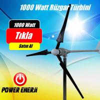 1 kw 1000 Watt Ev Tipi Rüzgar Türbini