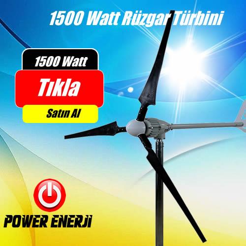 1.5 kw 1.500 Watt 48 Volt Ev Tipi Rüzgar Türbini