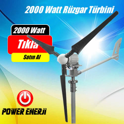 İstabreeze 2000Watt 48 Volt Rüzgar Türbini WindSafe Rüzgar Enerjisi Elektrik Üretimi