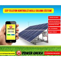 Telefon Kontrollü Güneş Enerjili Akıllı Sulama Sistemi