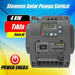 4 Kw Siemens Solar Pompa Sürücü Fiyatı