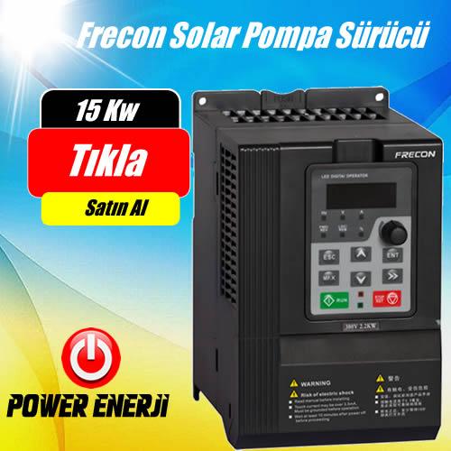 15 kW Frecon Güneş Enerjili Tarımsal Sulama Solar Pompa Sürücü İnverteri Fiyatı
