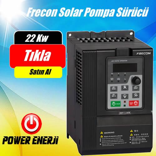 22 kW  Frecon Güneş Enerjili Tarımsal Sulama Solar Pompa Sürücü İnverteri Fiyatı