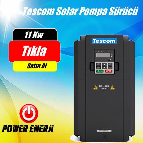 11 kW (15HP Beygir) TESCOM Güneş Enerjili Tarımsal Sulama Solar Pompa Sürücü İnverteri