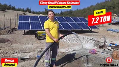 Güneş Enerjili Sulama Sistemi 3 Beygir Pompa Tarla Sulama Sistemi Bursa