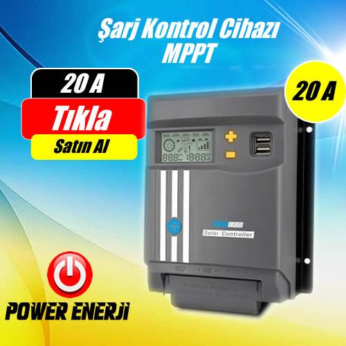 20A (Amper) MPPT Güneş Paneli Şarj Kontrol Cihazı Fiyatı