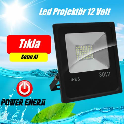 100 Watt 12 Volt / 24 Volt Led Projektör